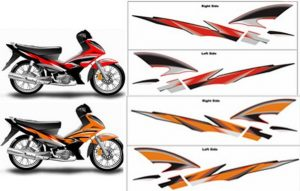 Cara Modifikasi Motor custom decal