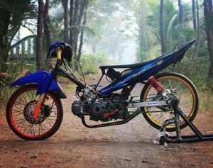 modifikasi jupiter z 2008 warna biru