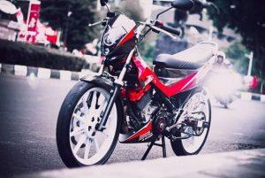 satria fu merah hitam modifikasi