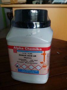 Cara Menghilangkan Karat Pada Besi -asam oksalat