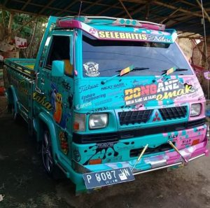 l300 pick up modifikasi stiker