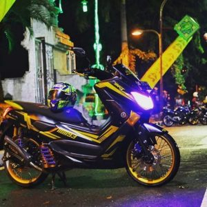modifikasi nmax hitam gold