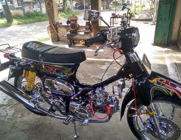 -honda c70 modif touring