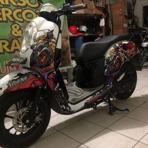-scoopy stylish matte brown modif