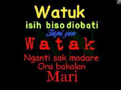 kata bijak bahasa jawa kromo inggil - watuk isih iso diobati