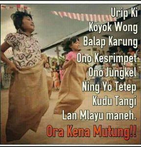 kata bijak bahasa jawa tentang cinta - urip iki koyo wong balap karung