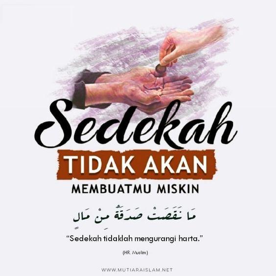 kata kata cinta dewasa islami - sedekah tidak akan membuat miskin