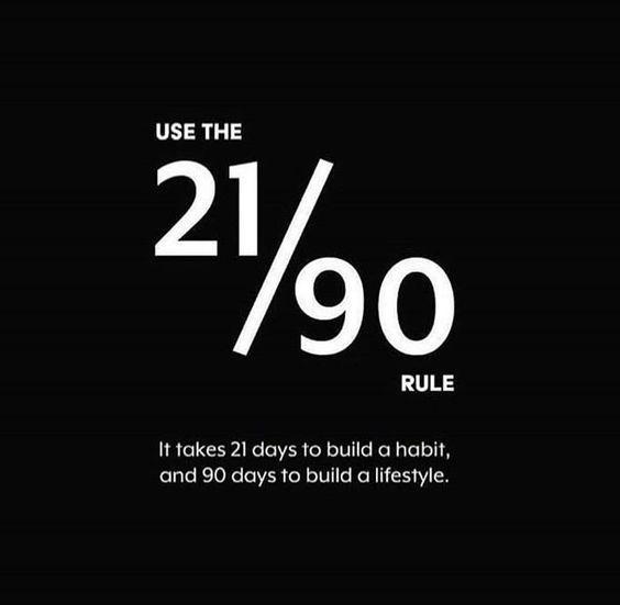 kata kata motivasi bahasa inggris - it takes 21 days