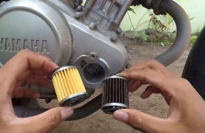 filter oli motor kotor
