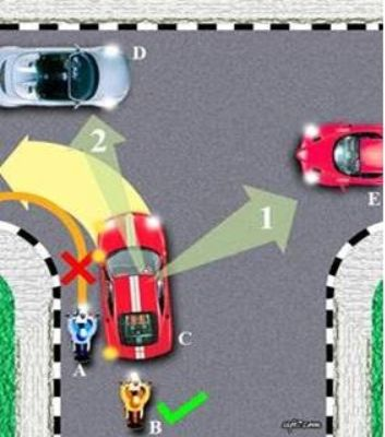 belajar menyetir kendaraan belok kiri benar